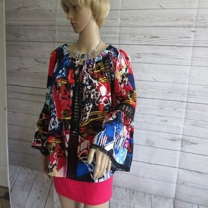 NWT - ALBERTO MAKALI blouse - sz M - MSRP $151.00